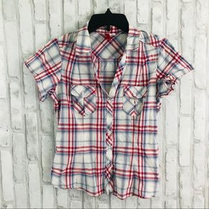 Divided Button Down Top